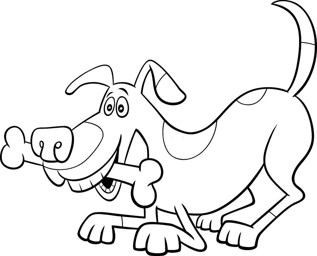 hueso para perro dibujo